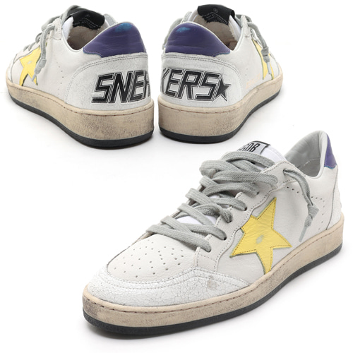 GOLDEN GOOSE 골든구스 볼스타 퍼플탭 BALLSTAR G34MS592 R9 WHITE/PURPLE